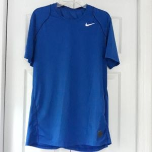 Nike Pro Dri-Fit fitted blue shirt size large